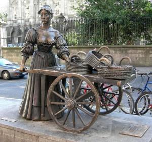 Molly Malone szobra, Grafton Street, Dublin