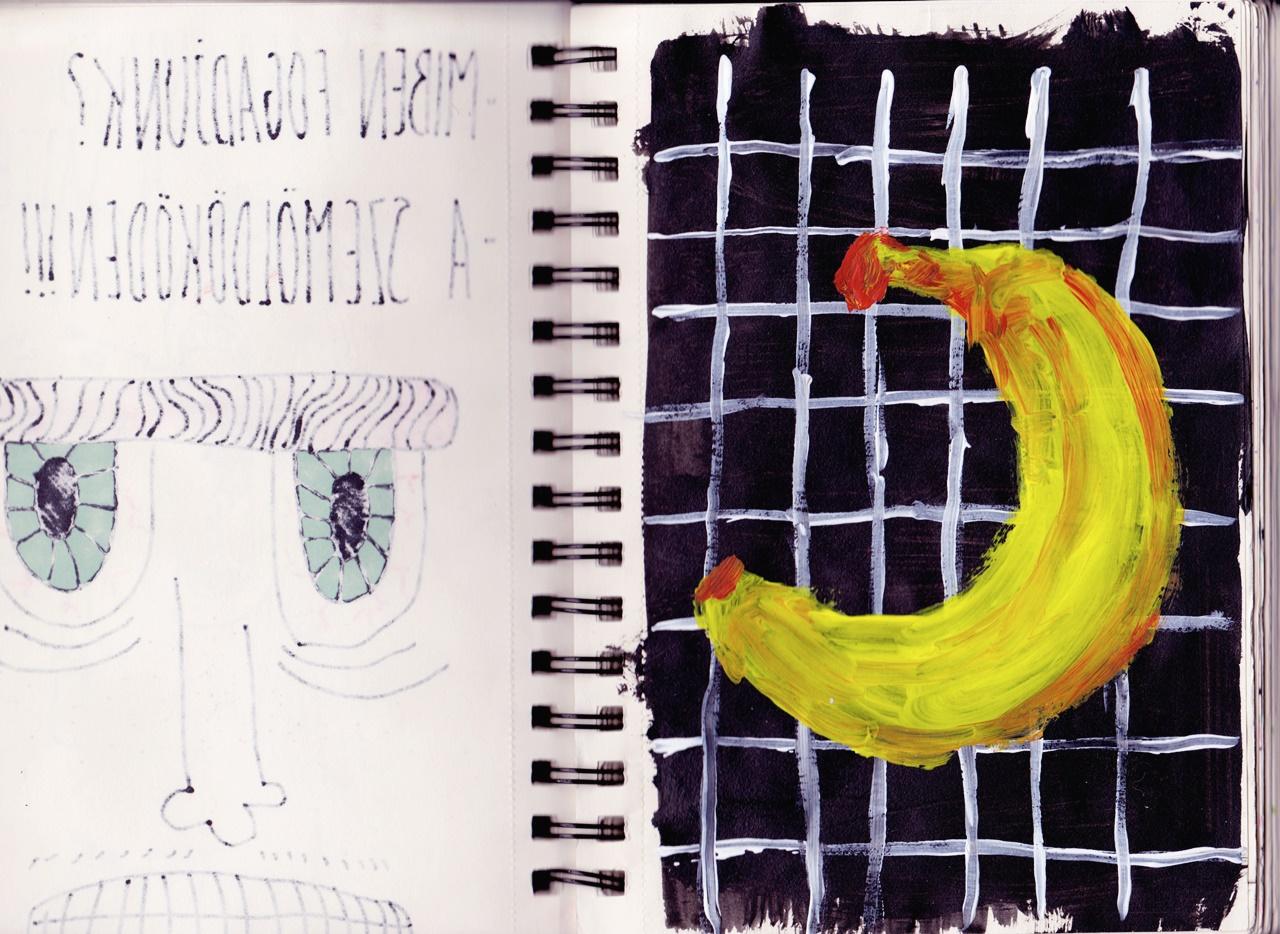 Részlet Olteán Viktória sketchbookjából