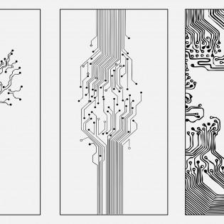 Városi szférák és nyomtatott áramkörök Bodor Blanka mintaterveiben