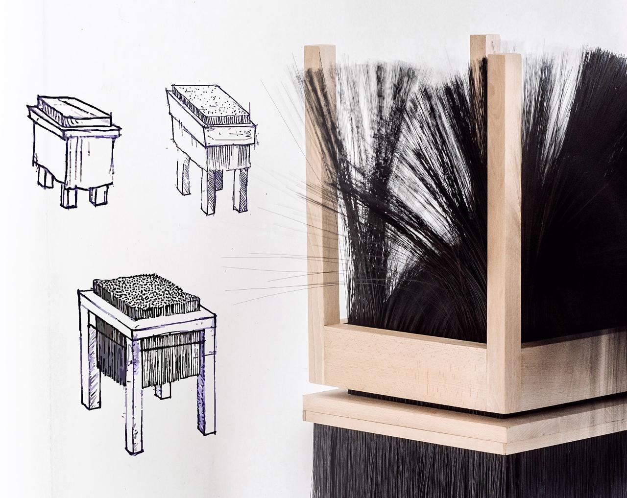 Lévai Levente | cHAIR Bristle furniture | Future Traditions | 2016 © Moholy-Nagy Művészeti Egyetem