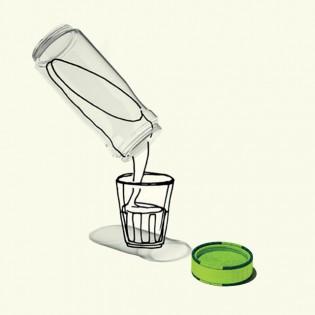 Öko-üveg tejautomatákhoz