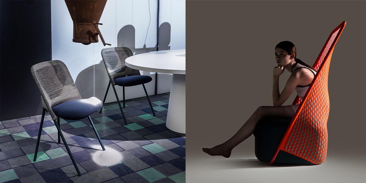 """Jonas Forsman 3D-kötött """"Shift"""" széke és a Layer """"Moroso"""" darabja"""
