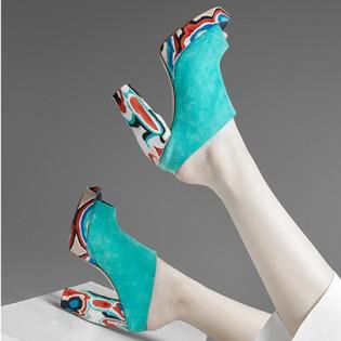 Tökéletesen felhasznált alapanyag Veszprémi Gabriella cipő kollekciójában